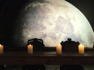 Moon background for a private party.