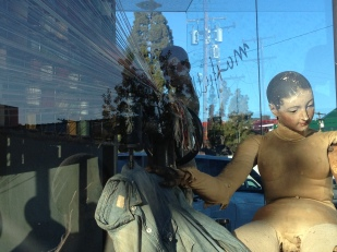 Made Worn window at Maxfield, Melrose Ave.