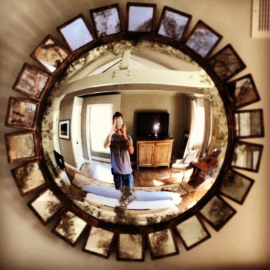 That's just a cool mirror...
