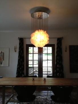 """Verner Panton chandelier from his """"Fun"""" series."""